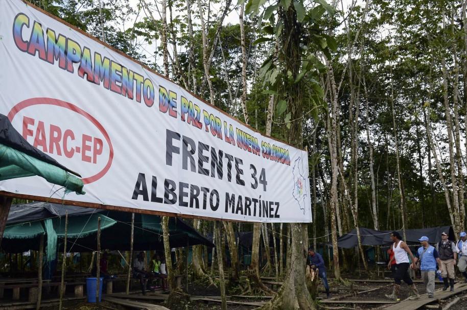 Campamento de las Farc en Vegáez, Antioquia