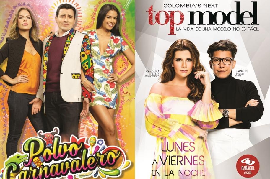 'Polvo carnavalero' y 'Colombia's next top model' de Caracol Televisión.
