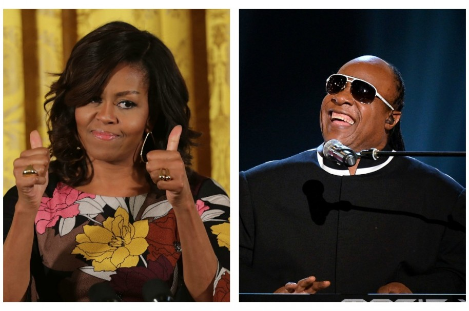 Michelle Obama / Stevie Wonder