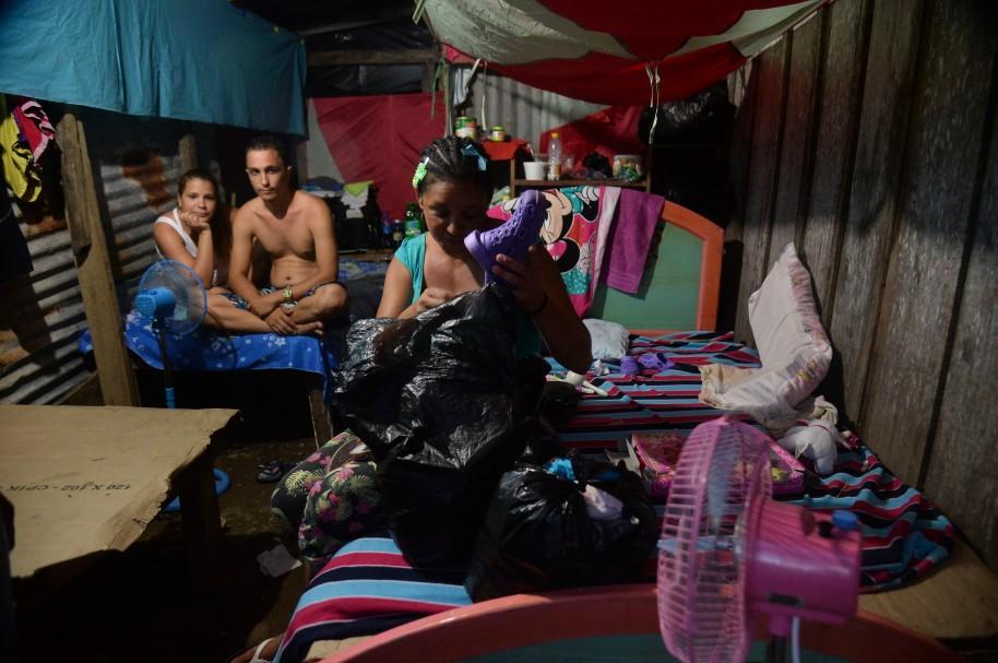 Familias desplazadas en Colombia (imagen de archivo)