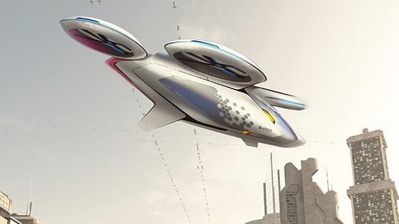 """Diseño de artista del """"auto volador"""" de Airbus"""