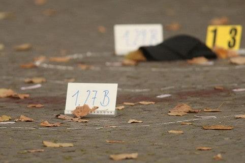 Marcadores en una escena del crimen (imagen de referencia)