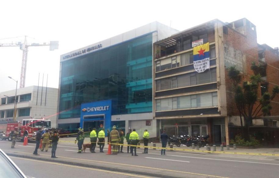 Explosión en centro de Bogotá