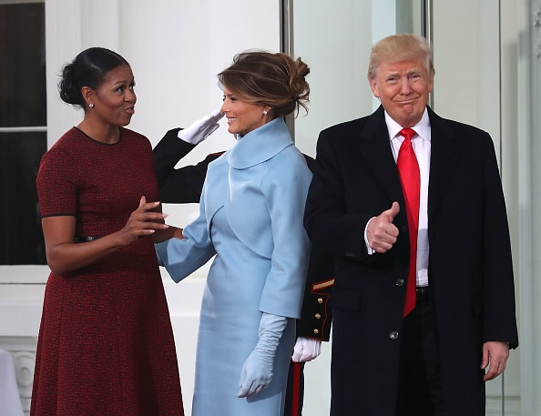 Michelle Obama, Melania y Donald Trump