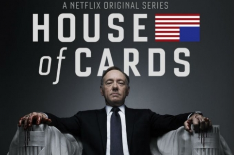 Kevin Spacey en el afiche de 'House of cards'