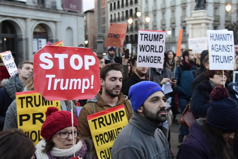 SPAIN-US-TRUMP-INVESTITURE-DEMO