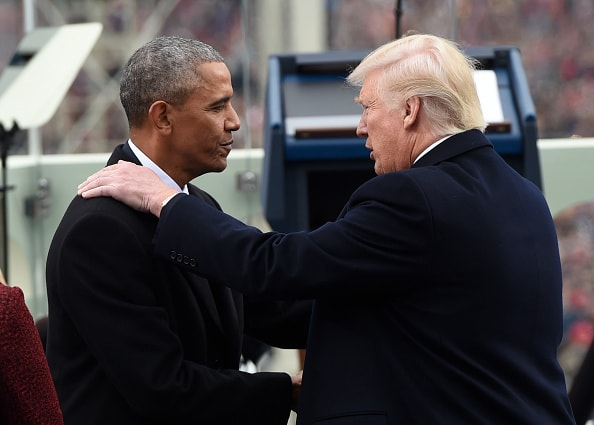 Barack Obama y Donald Trump
