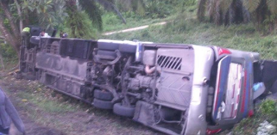 Accidente de bus en Santander