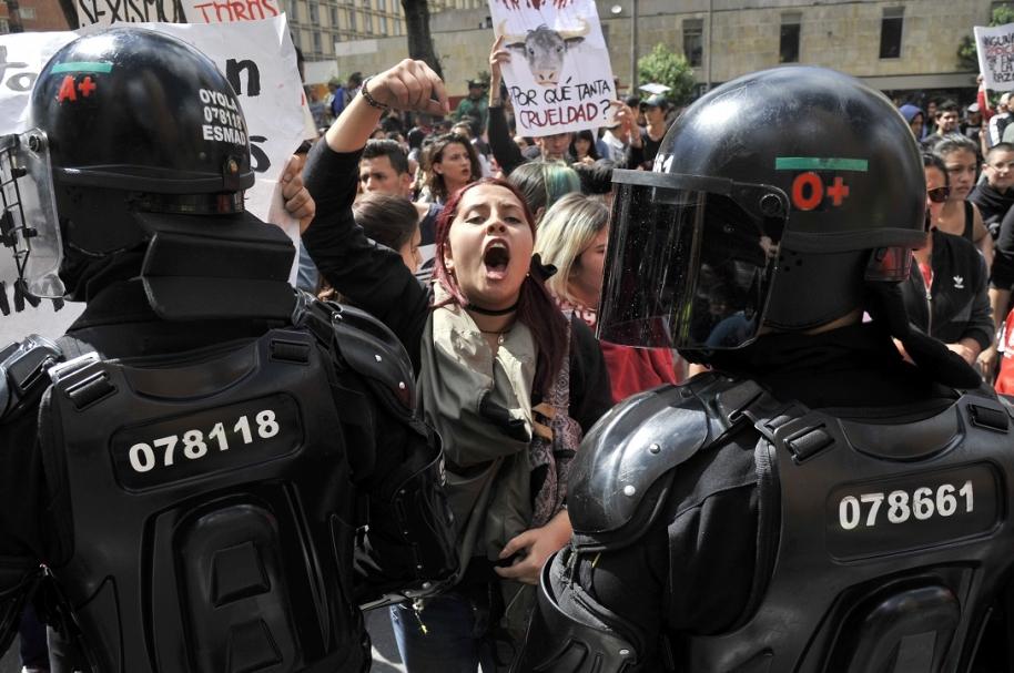 Protestas antitaurinas en Bogotá