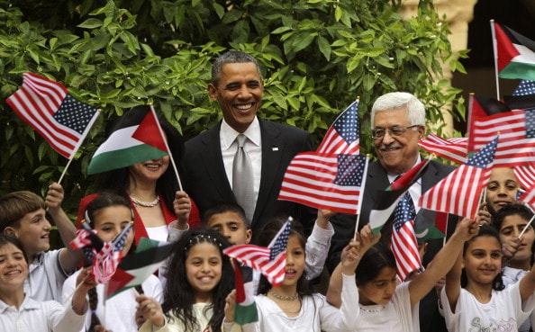 Barack Obama y Mahmoud Abbas