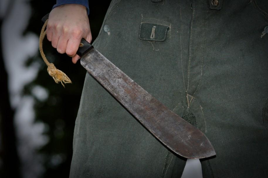 Hombre con machete. Pulzo.com