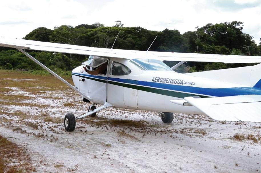 Aeronave de la empresa Aeromenegua