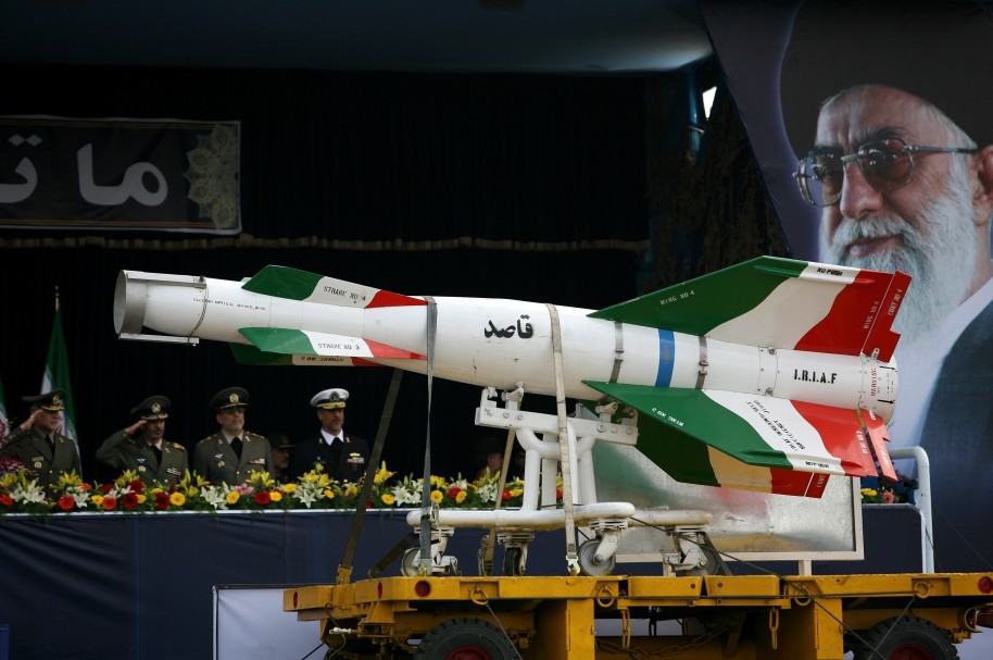 Misiles iraníes en desfile militar