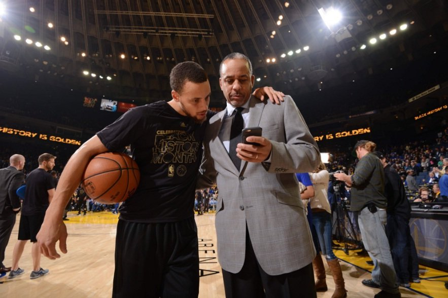 Stephen y Dell Curry