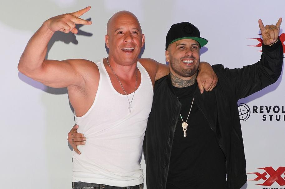 El actor Vin Diesel y el cantante Nicky Jam.