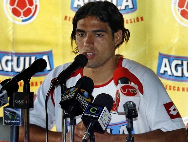 Falcao García, en una rueda de prensa de la Selección Colombia en 2007.