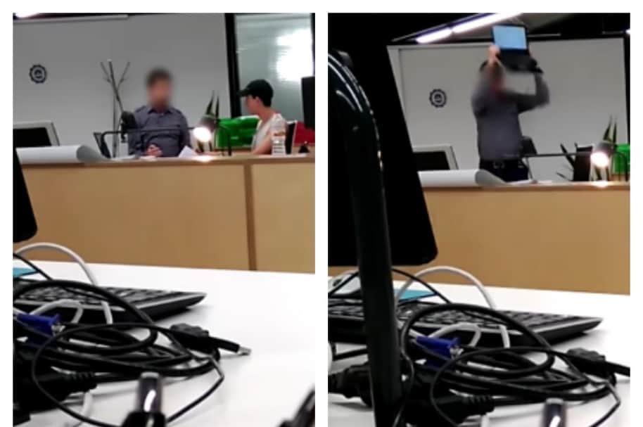 Profesor rompe computador. Pulzo.com
