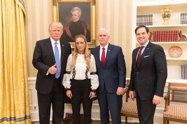 Trump, Tintori, Pence y Rubio