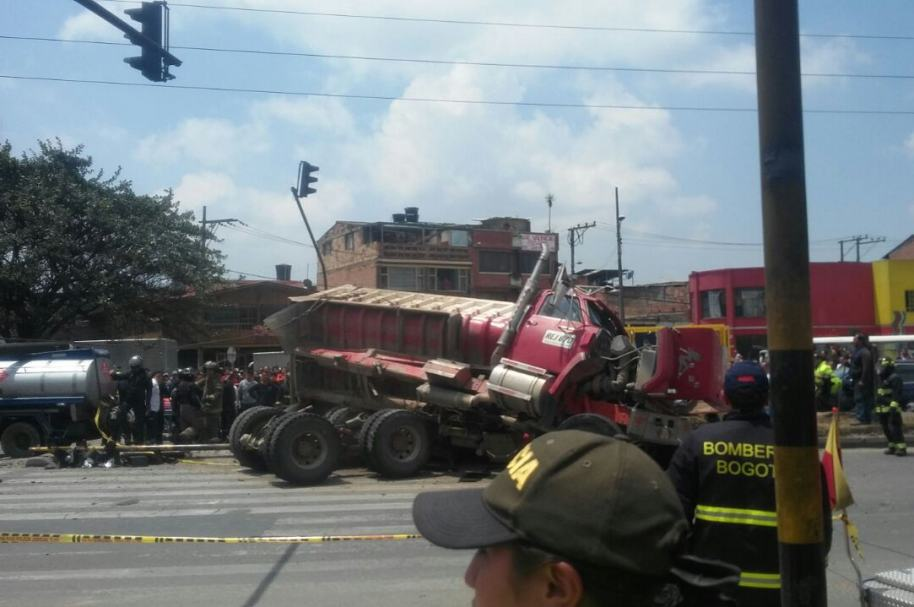 Grave accidente en Fontibón