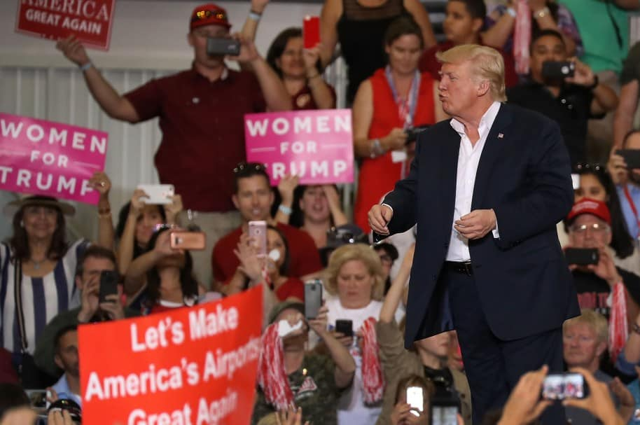 President Trump Holds Rally In Melbourne, Florida