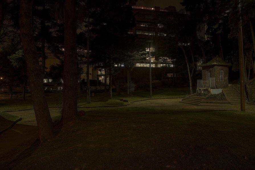 Parque La Virgen, antes de la iluminación.