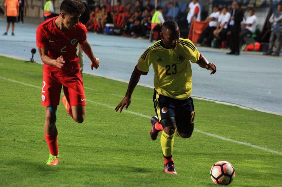 Chile venció 1-0 a Colombia