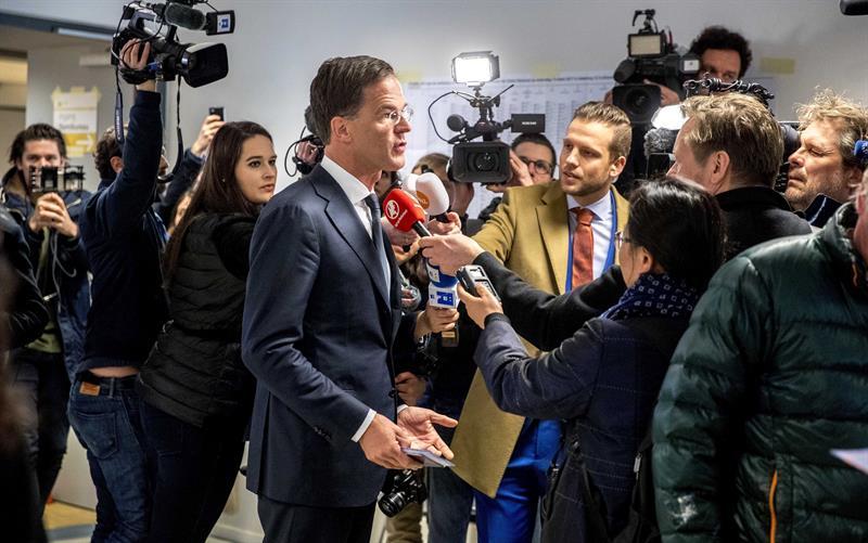El líder del Partido Democrático Mark Rutte