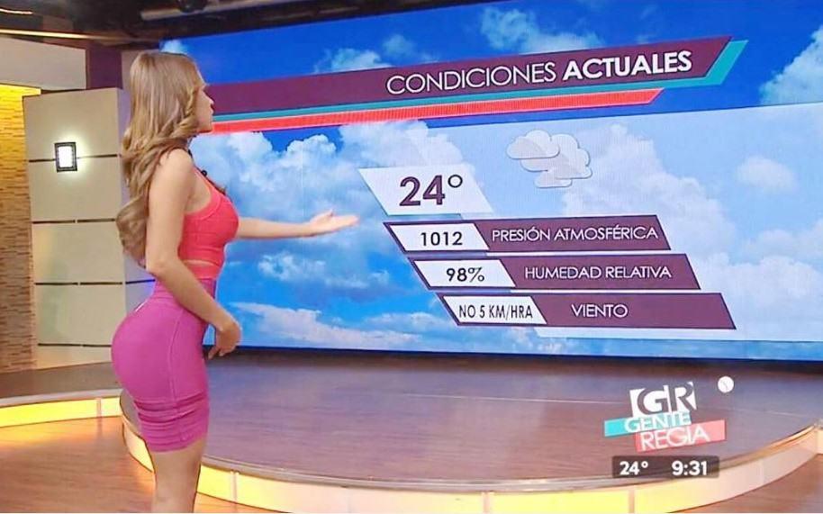 Yanet García, 'la chica más linda del clima'.