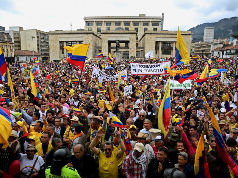 La marcha en Bogotá.