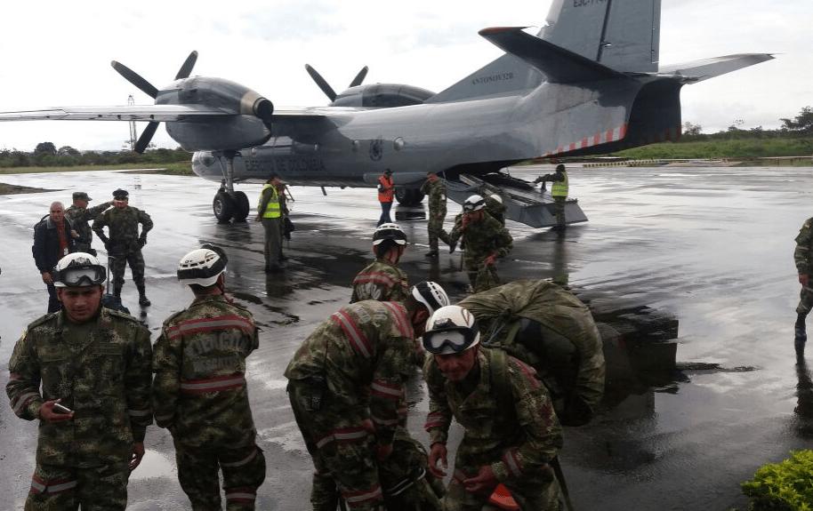 Ayudas del Ejército de Colombia a Mocoa