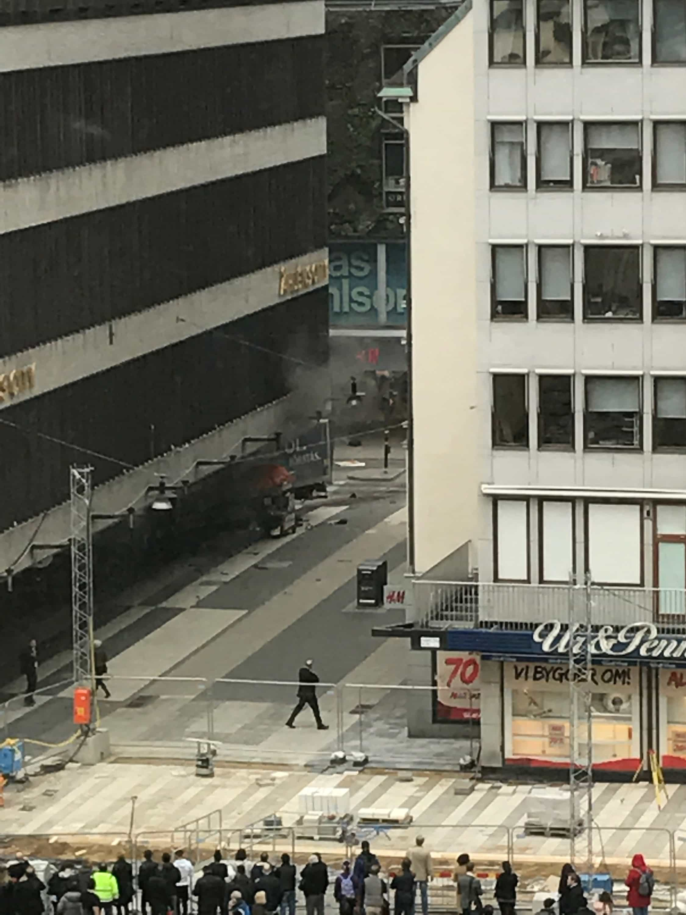 Three people killed in incident when a truck was driven Friday April 7 2017 into a department store in central Stockholm
