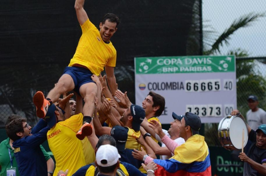 Santiago Giraldo y Selección Colombia de Copa Davis