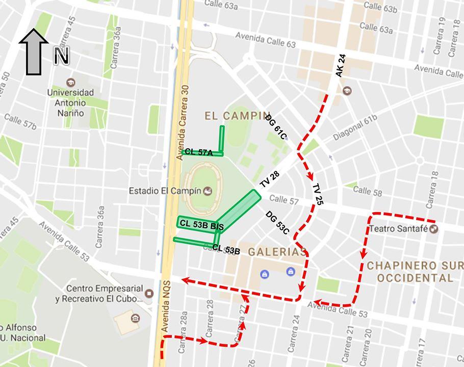 Mapa 2: desvíos autorizados