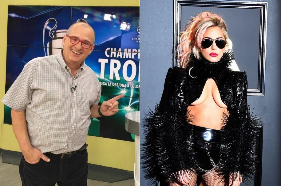 Jota Mario Valencia, presentador de 'Muy buenos días' y Lady Gaga, cantante.