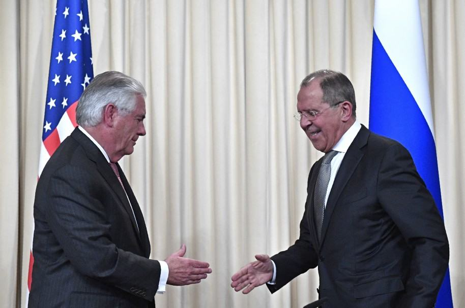 Rex Tillerson y Sergey Lavrov