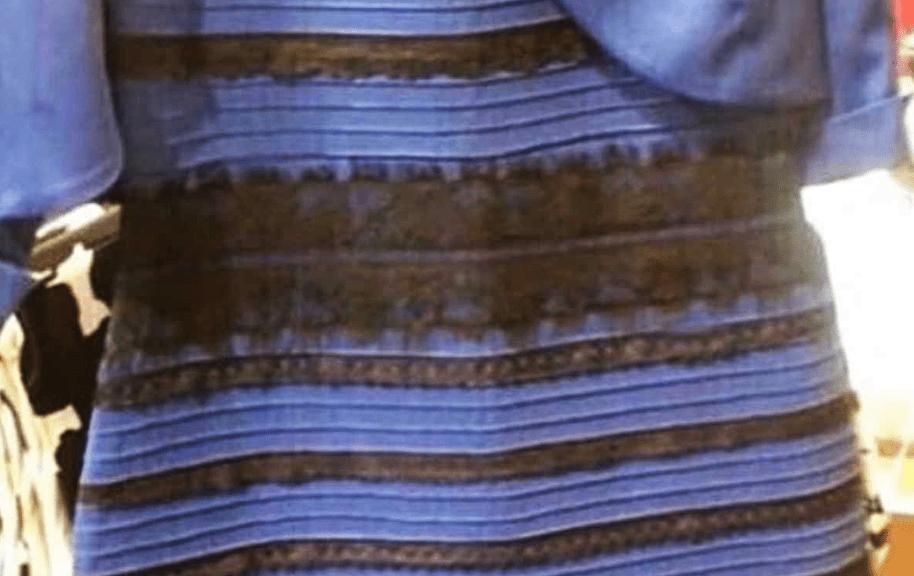 Respuesta fenómeno vestido azul y negro