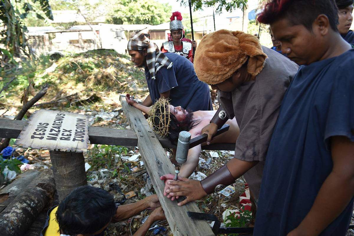 Crucifixiones reales en Filipinas