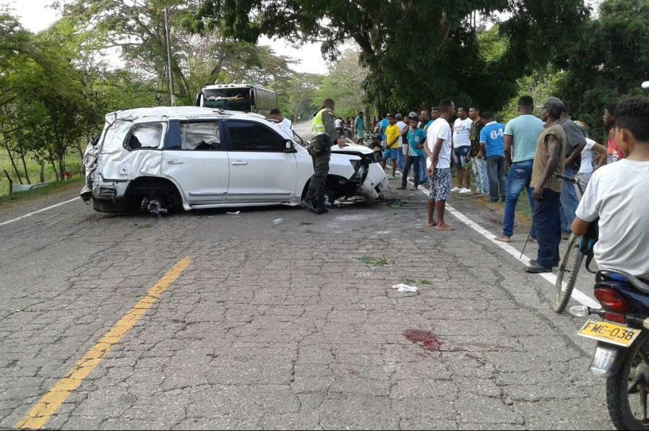 Así quedó la camioneta en la que se accidentó Martín Elias