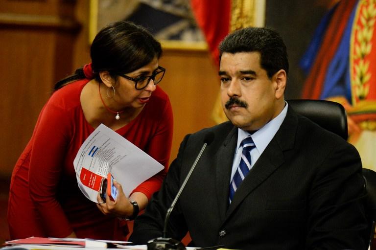La canciller venezolana, Delcy Rodríguez, y el presidente venezolano, Nicolás Maduro. Pulzo.com