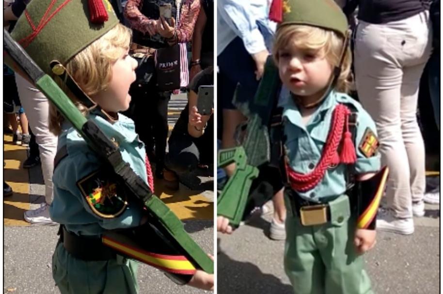 Niño soldado en España.