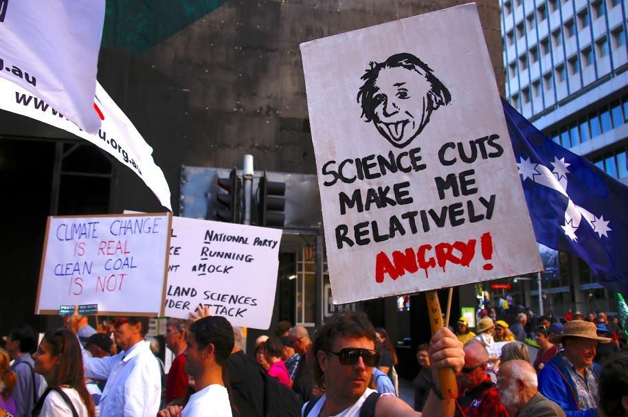 Protestas de científicos en Australia