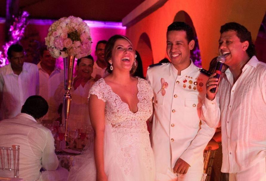 Dayana Jaimes junto a su esposo, el cantante Martín Elías (Q.E.P.D.), y su cuñado, el cantante y actor Rafael Santos.