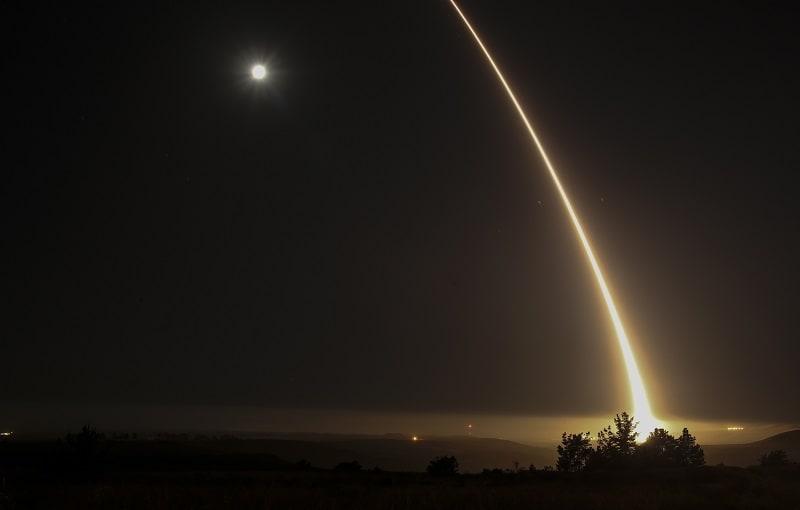 Prueba de misil en California