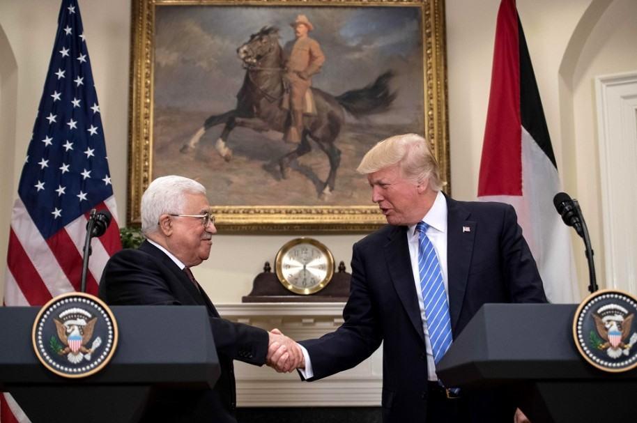 Mahmud Abás y Donald Trump en la Casa Blanca