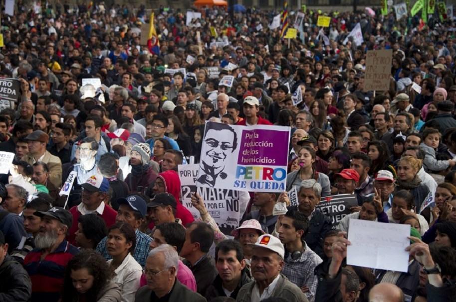 Manifestaciones de apoyo a Petro en 2014