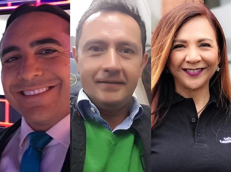 Mario Sábato (ESPN), José Fernando Neira (RCN) y 'Goga' Ruiz (Señal Colombia)