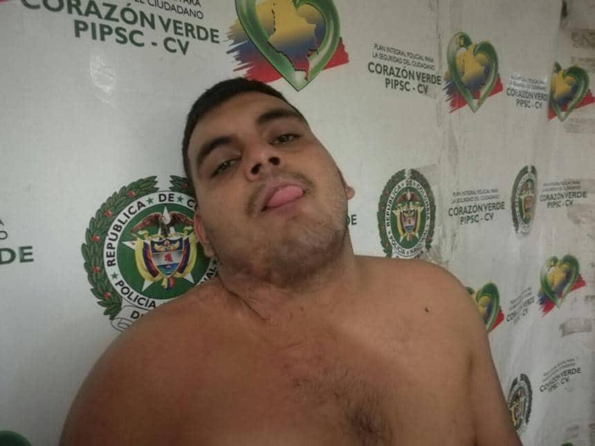Keiner Solano Menahen, capturado por hurto.