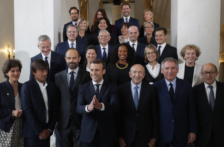 Emmanuel Macron y sus ministros. Pulzo.com