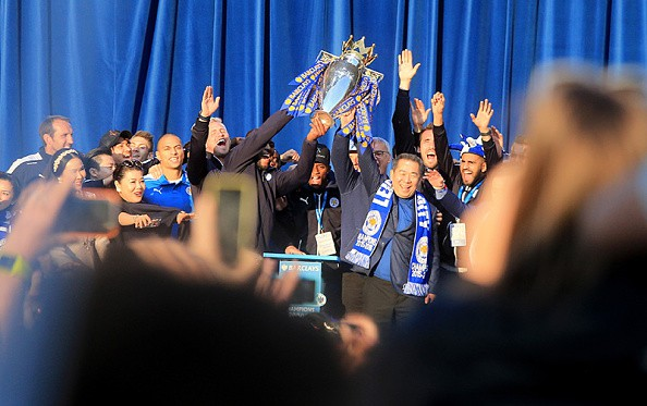 Celebración del Leicester City