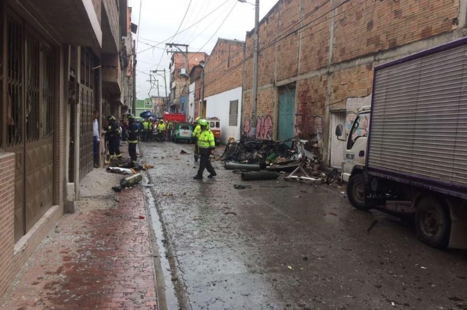 Explosión en bodega del barrio María Paz, en Kennedyt